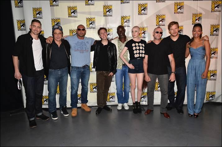 Režisér James Gunn a herci na Comic Conu.